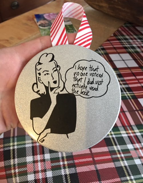 Book club ornament