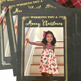 Little Miss Christmas card - The 2 Seasons