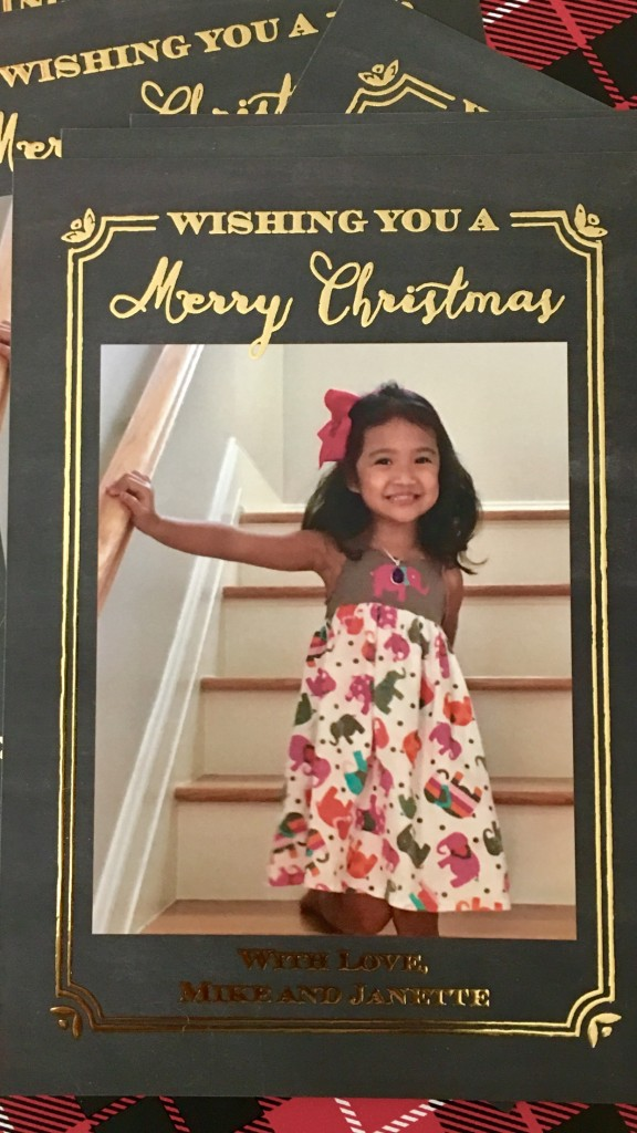 Little Miss Christmas card - The 2 Seasons