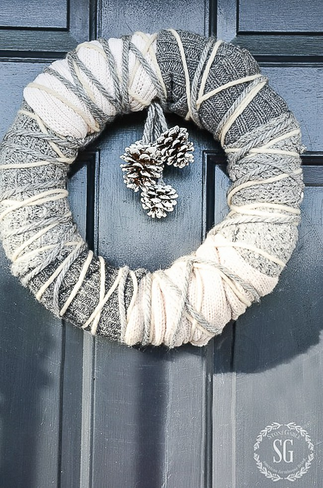 1 sweater wreath 2 - 2018 Goals and Thoughts