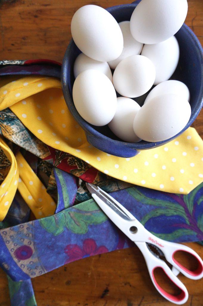 Silk Tie Easter Eggs - The 2 Seasons