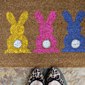 DIY Easter Door Mat - The 2 Seasons
