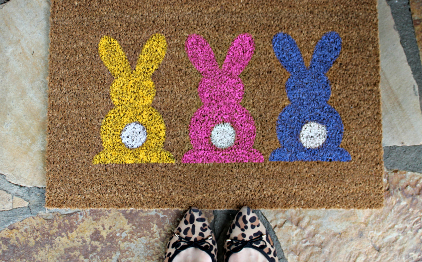 Learn How To Make An Easy Easter Door Mat