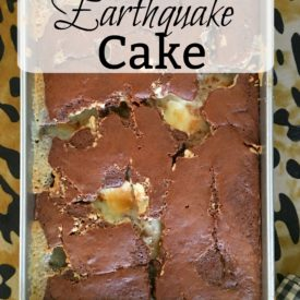 Earthquake cake - The 2 Seasons