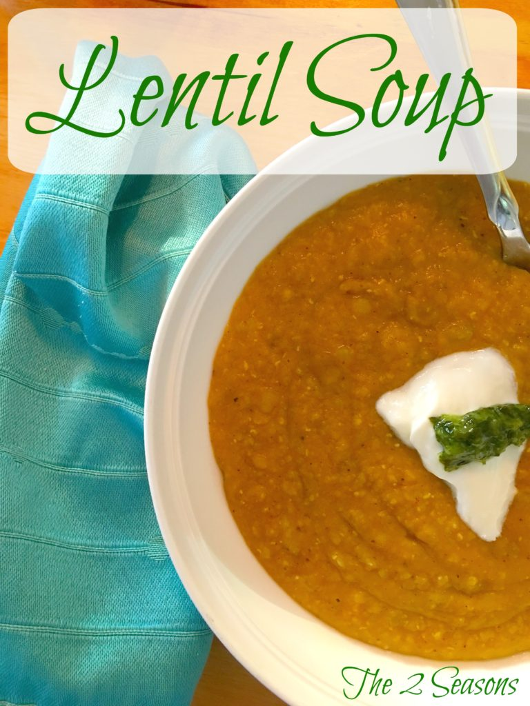 Lentil soup - The 2 Seasons