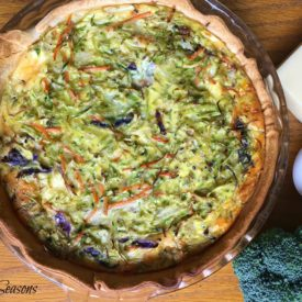 Vegetable quiche - The 2 Seasons