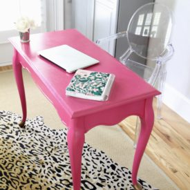 Painted office desk - The 2 Seasons