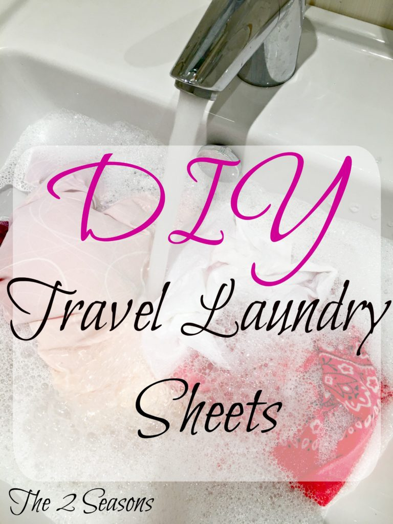 DIY Travel Laundry Sheets - The 2 Seasons