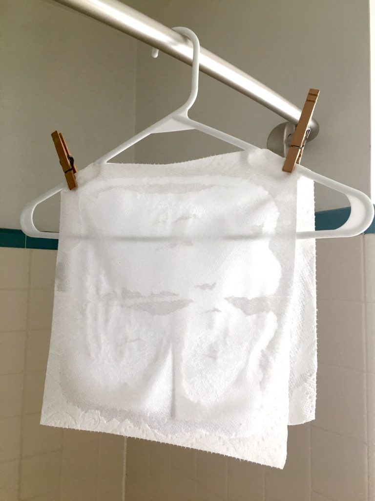 DIY travel laundry sheets
