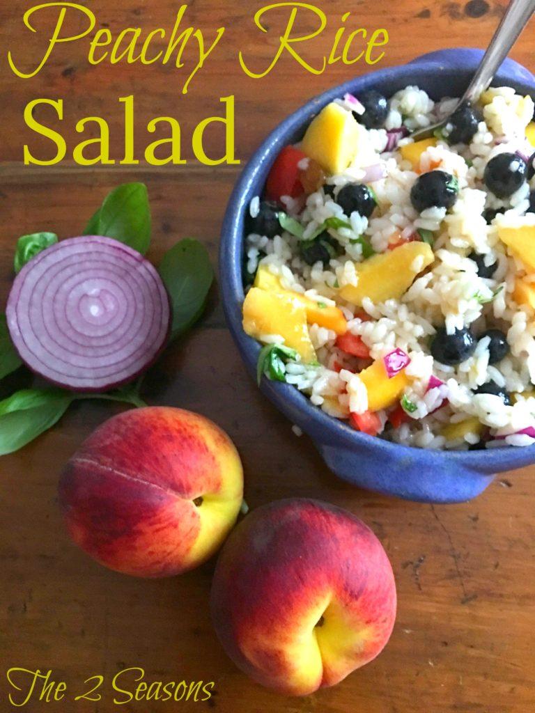 Peachy Rice Salad - The 2 Seasons