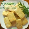 Rosemary Shortbread Cookies - The 2 Seasons