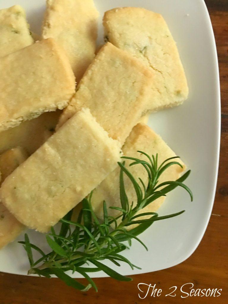 Rosemary Shortbread Cookies - The 2 Seasons