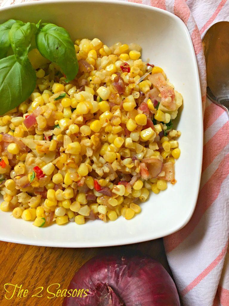 Fried Corn Recipe - The 2 Seasons