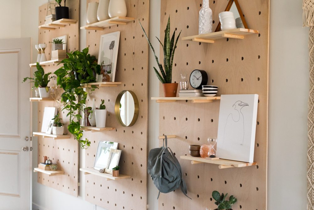 Vintage Revivals DIY Giant Pegboard - How to Decorate a Blank Wall