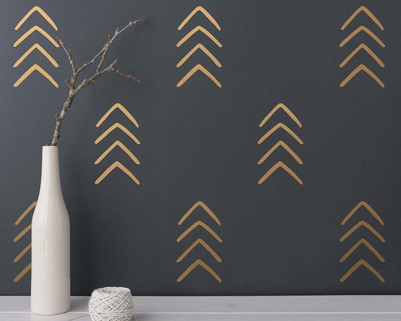 arrow decals - How to Decorate a Blank Wall