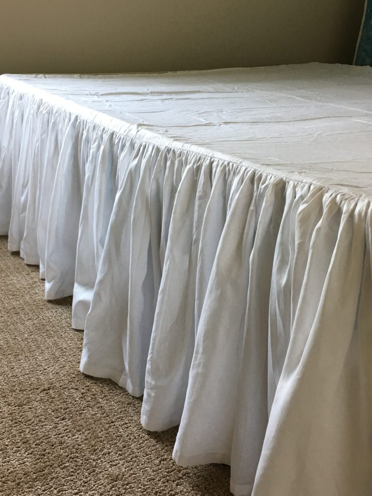 IMG 2099 e1536254683741 768x1024 - DIY Bed Skirt Using Dental Floss