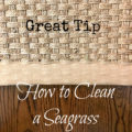 How to clean a seagrass rug border - The 2 Seasons
