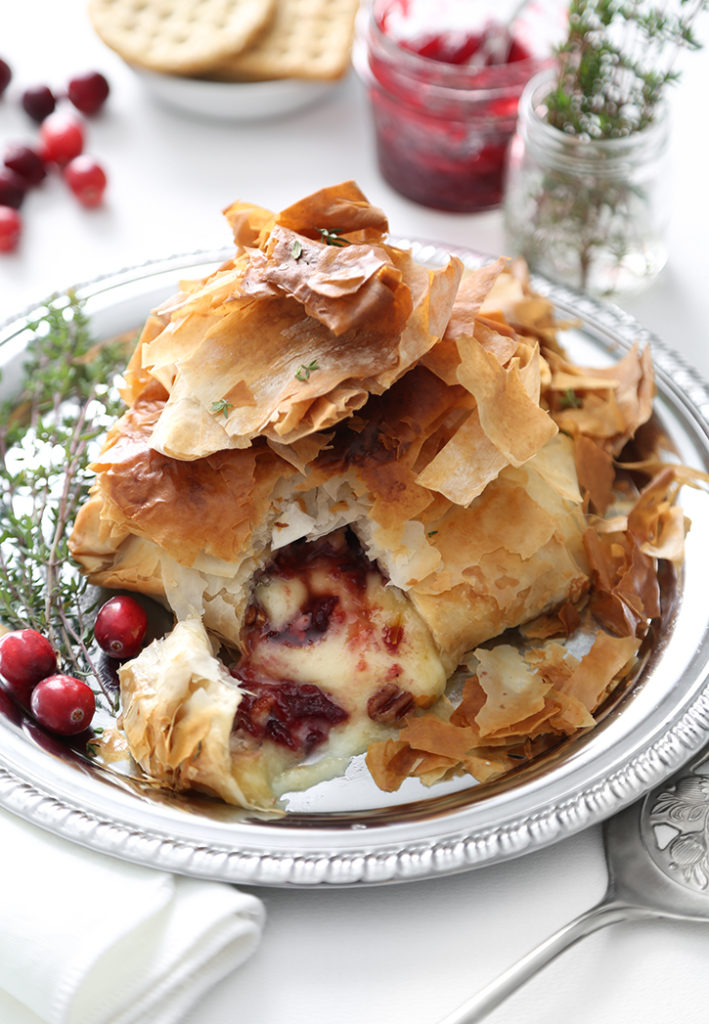 Air Fryer Baked Brie with Cranberry Filling 709x1024 - The Seasons' Saturday Selections