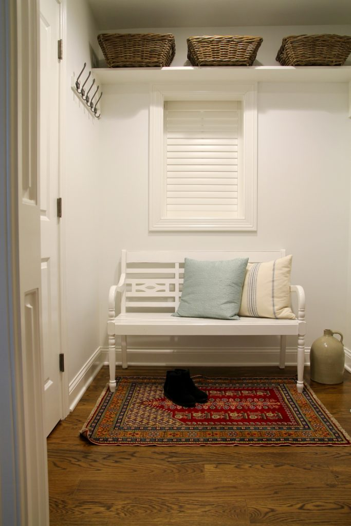 Townhouse mudroom reveal - The 2 Seasons
