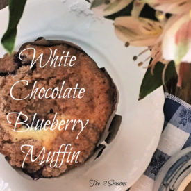 White chocolate blueberry muffin - The 2 Seasons