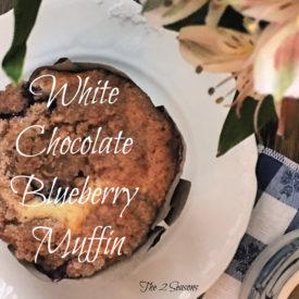 White chocolate blueberry muffin - The 2 Seasons