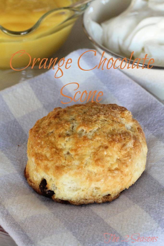 Orange chocolate scone - The 2 Seasons