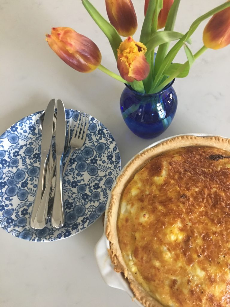 Asparagus Quiche - The 2 Seasons