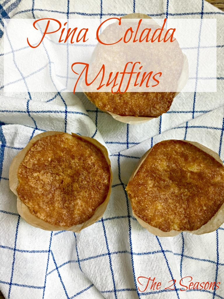 Pina Colada Muffins - The 2 Seasons