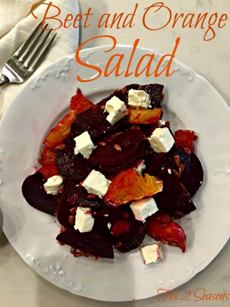 Beet and Orange Salad - The 2 Seasons