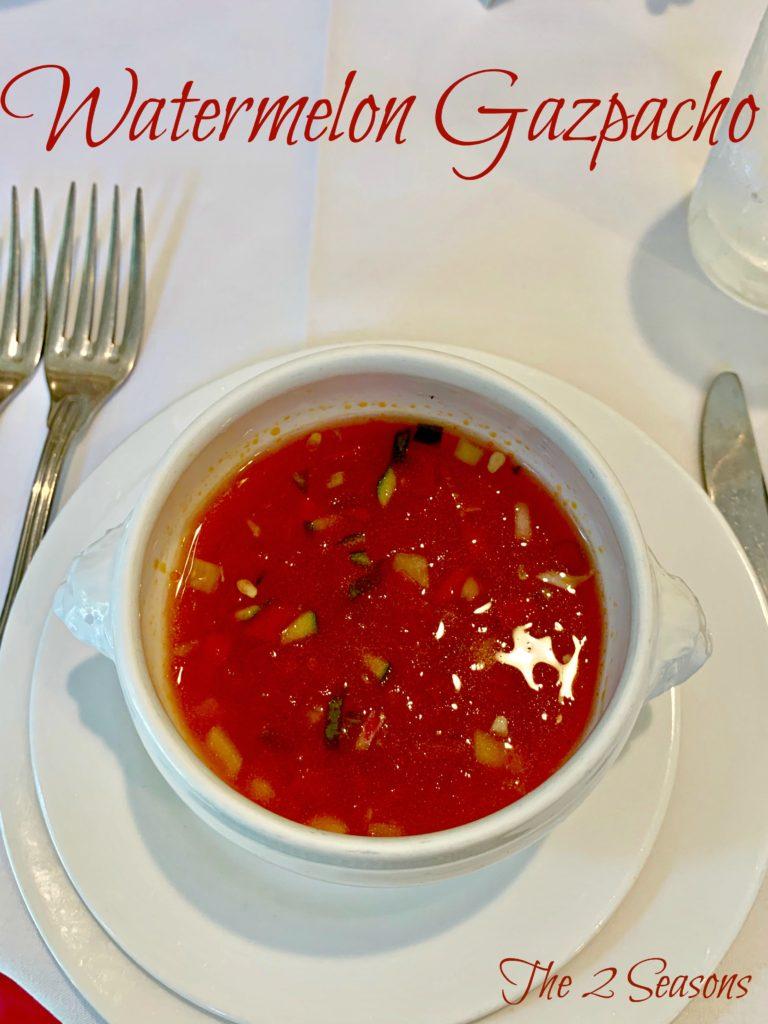 Watermelon Gazpacho - The 2 Seasons