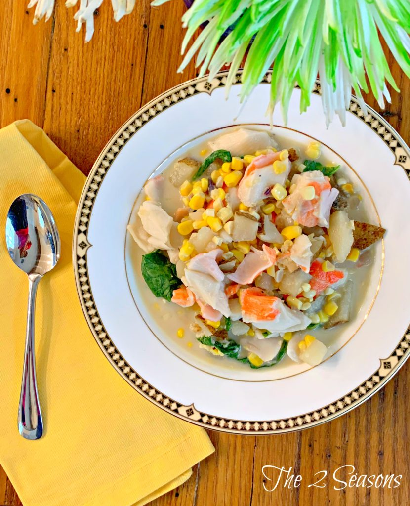 Corn and Crab Chowder 2 The 2 Seasons 830x1024 - Corn and Crab Chowder