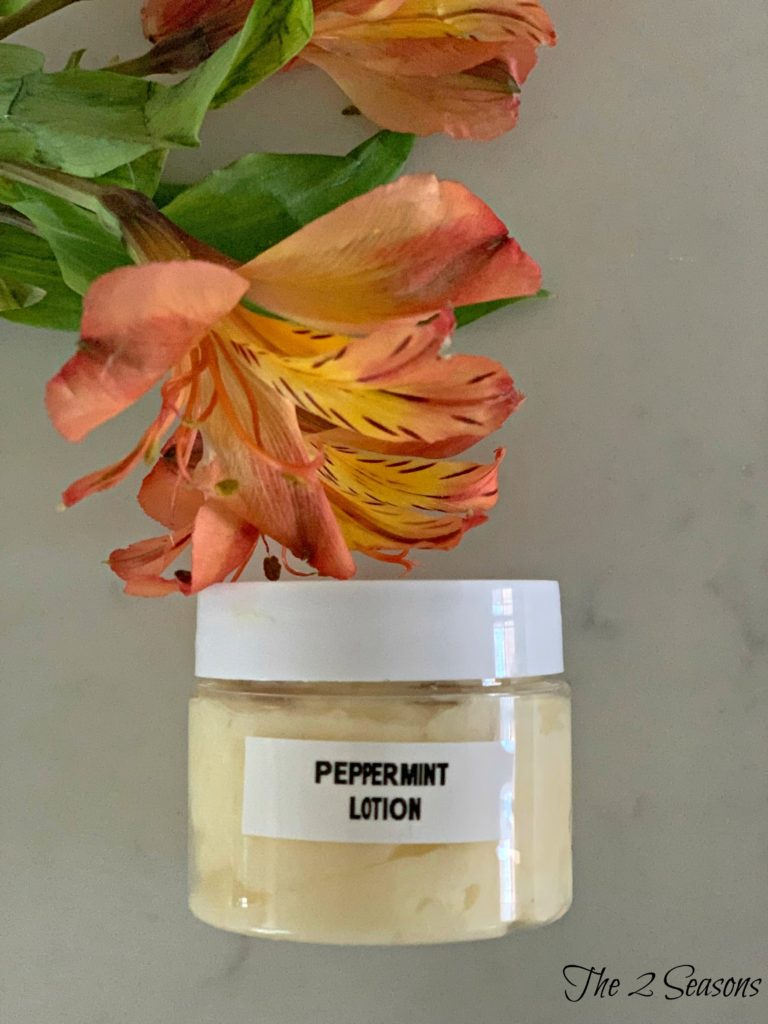 Peppermint Lotion 3 768x1024 - How to Make Peppermint Foot Cream