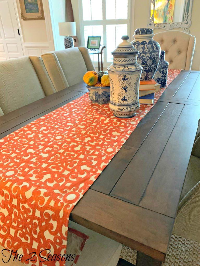 Dining table runner 3 768x1024 - DIY Fall Table Runner