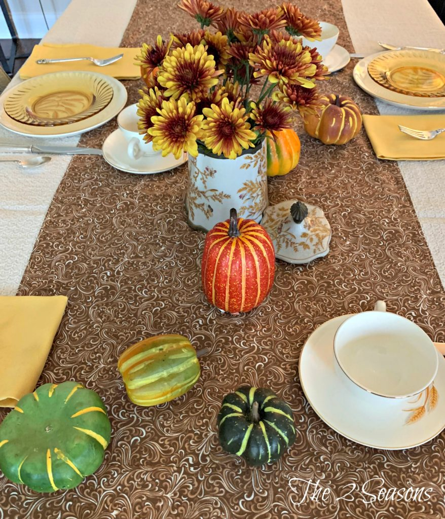 Fall Wheat Table 878x1024 - A Fall Table Setting