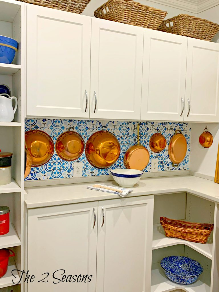 Stenciled20backsplash20in20pantry 768x1024 - House Tours