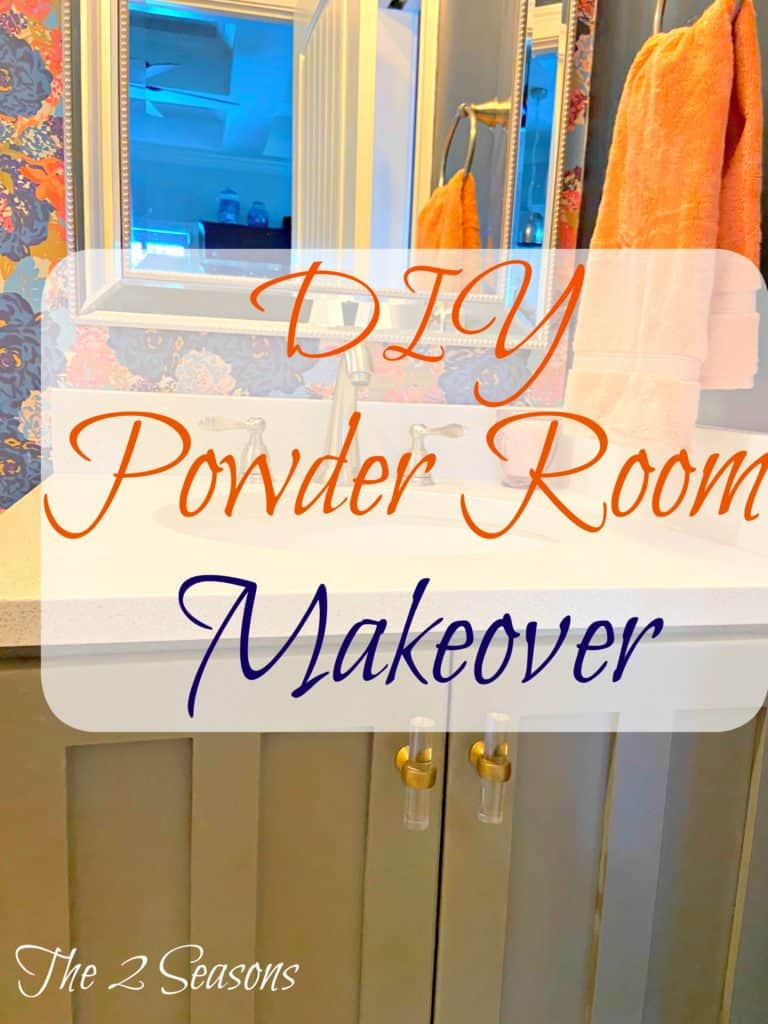 Jordans powder room makeover 7 768x1024 - Jordan's Powder Room Makeover