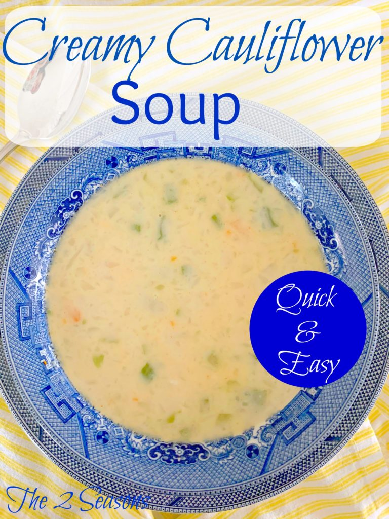 Creamy cauliflower soup 768x1024 - Cream of Cauliflower Soup