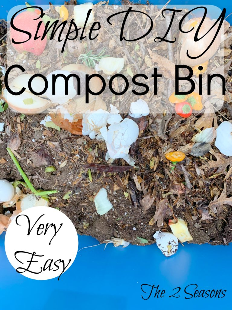 DIY Copost Bin 768x1024 - How to Make a Simple Compost Bin