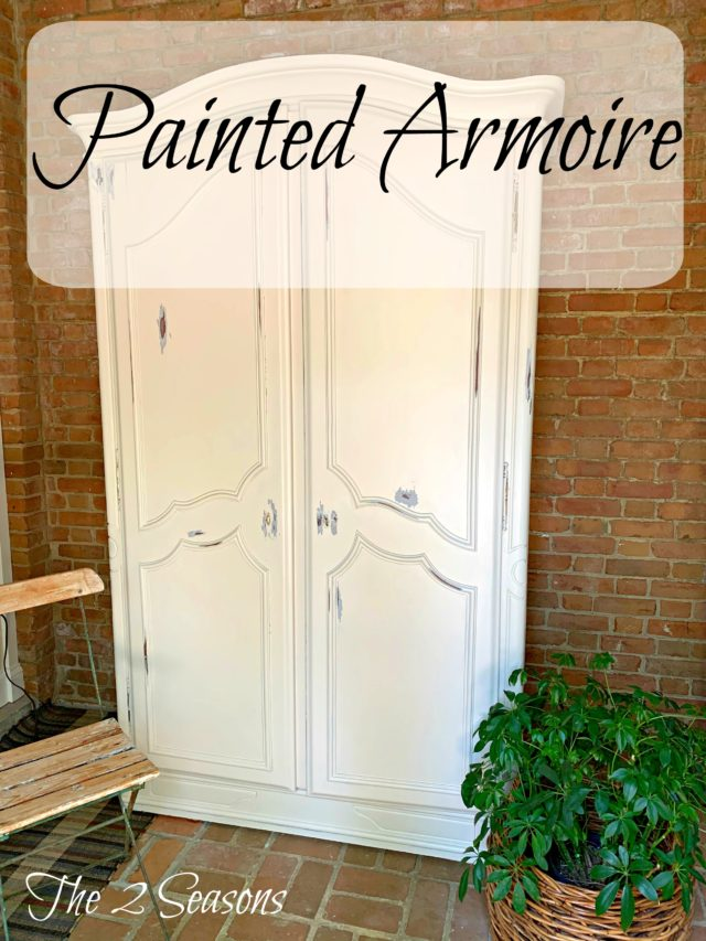Painted armoire 1 2 640x853 - I Painted the Armoire