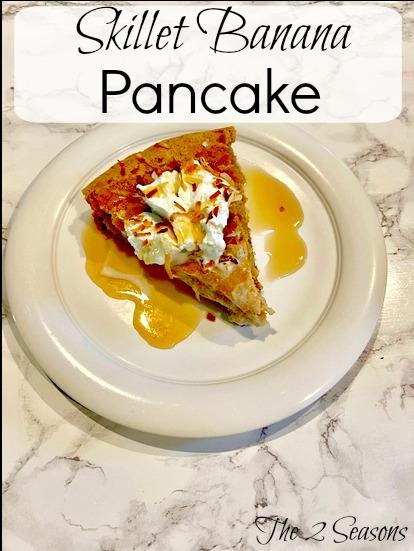 Skillet Banana Pancake - Skillet Banana Pancake